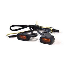 Paire de clignotant NOIR à LED fixation rétroviseur harley Sportster  577093