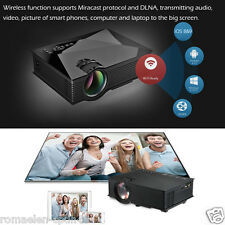 Projecteur LCD LED HD 1080P WiFi Sans Fil 3D Ready 1200 Lumens HDMI Phone DNLA