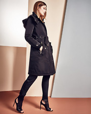 BURBERRY Women HUNNBRIDGE DOWN BELT HOODED COAT JACKET, BLACK SZ 10 $1495