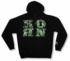 Korn Skull & Letter Black Pull Over Hoodie Sweatshirt New Official