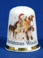 Christmas Woofs 'Exclusive' China Thimble B/46