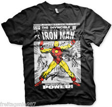 MARVEL IRON MAN Cover  T-Shirt  camiseta cotton officially licensed