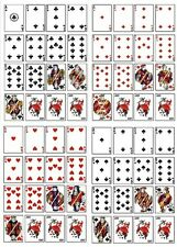 1 FULL DECK OF PLAYING CARDS HEART SPADES CLUBS DIAMONDS EDIBLE CUP CAKE TOPPERS