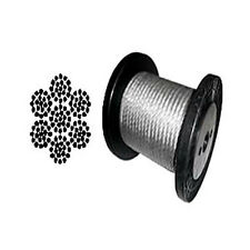 """7 x 19 Galvanized Aircraft Cable Wire Rope 5/16"""" - 200 ft"""