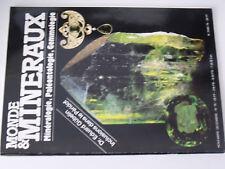 14µµ Revue Monde & Mineraux n°76 Cuivre Boleo Inclusion Peridot Aigues Marines