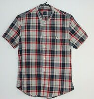 Gap Men's Short Sleeve Check Button Down Shirt Size M