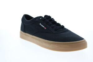 Reebok Club C Coast FY5598 Mens Black Canvas Lifestyle Sneakers Shoes