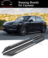 2PCS Running Boards Side Step Nerf Bars fits for Cayenne 2018 2019 2020