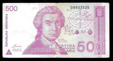 World Paper Money - Croatia 500 Dinara 1991 @ Vf