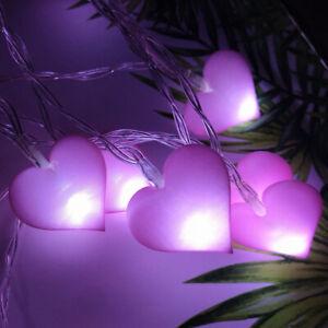 LED String Lights Fairy Love Heart Shaped LED Girls Bedroom Home Romantic Decor