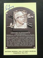 Greg Maddux Signed Gold Plaque Postcard JSA COA Autograph Yellow Atlanta Braves