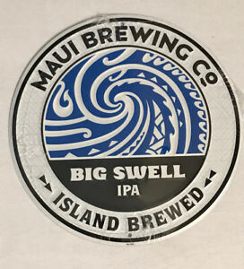 Big Swell IPA Metal Sign Maui Brewing Craft Beer Mancave Hawaii