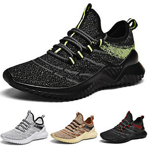 Men Trainers Sneakers Breathable Gym Fitness Running Sports Casual Shoes Size 10