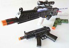 3x Toy Machine Guns Elec Special Forces Rifle MP5 w/ Sound FX Camo 9MM Cap Gun