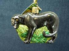 Old World Christmas OWC - PANTHER Glass Ornament  NEW w tag (o1296) **