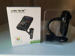 new onever bluetooth wireless fm transmitter car kit usb charger mp3 player uk