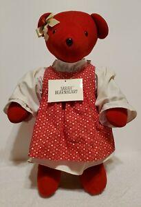 "NABCO - VIB Collection, Sarah Bearnheart, 18"" tall, Red Plush, Made 1978-82, TA"