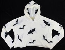 Wildfox Couture White Label Billy Bats Hooded Sweater Cropped Oversized S