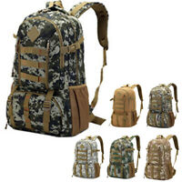 1Pc 50L Outdoor Mens Camouflage Backpack Waterproof Travel Hiking Bag Rucksack