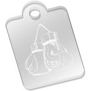 'Hanging Boxing Gloves' Clear Acrylic Keyrings (AK030140)