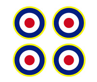 "Set of 4 Remote Control (RC9)  RAF Roundels 2 3/4"" RC Airplane Sticker"