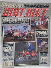 Dirt Bike Magazine May 1989 Yz360 vs Kx500 Yamaha Testing 4 Fastest Honda Xr
