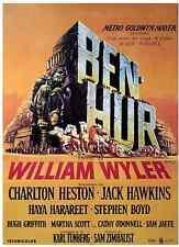 Ben Hur Poster Riproduzione Originale Italia di Wyler con C. Heston 70x100cm