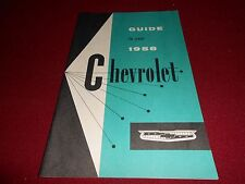 1958 CHEVROLET CAR OWNER MANUAL / OWNER'S GUIDE / 58 CHEVY