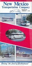 1979 NEW MEXICO TRANSPORTATION COMPANY Bus Schedule Route Map Greyhound TNM&O