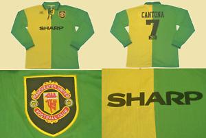 Manchester united 1992 1993 1994 jersey shirt cantona premier league away long s