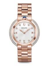 AUTHORIZED DEALER Bulova 98R248 Women's Rubaiyat Rose Gold-Tone Diamond Watch
