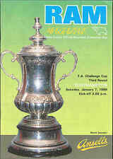 Derby County v Southampton - FA Cup - 7/1/1989 - Football Programme