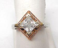 14K TT ROUND DIAMOND ENGAGEMENT RING MOUNTING RETAIL $1419 JG1