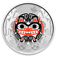 NEW! 2020 BILL REID Haida Bear Toonie $2 Color Canada Coin from Special Roll