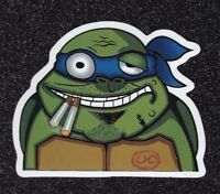 Ninja Turtle Smoking Vinyl Sticker (Lot of 2)