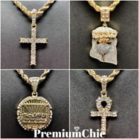 Jesus, Cross, ANKH, Last Supper Pendant Rope Chain Necklace Mens Hip Hop Jewelry