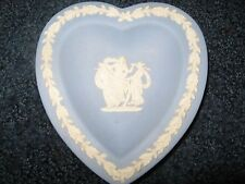 Wedgewood-Sweet Dish Heart-Jasper pale blue-Made in England-Original Box