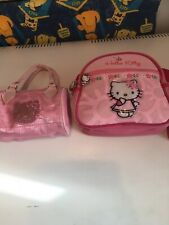 2 Hello Kitty Handbag/shoulder/Lunch Bag Authentic Pink Cute School Holiday