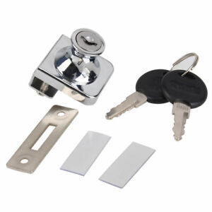 Display Cabinet Showcase Glass Door Lock & Key for 3mm-10mm Thickness Glass
