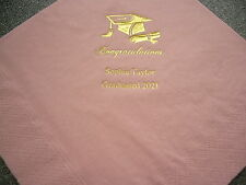 50 Personalised Graduation Napkins NEW design