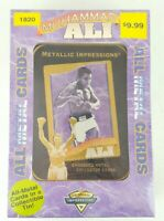 1995 MUHAMMAD ALI METALLIC IMPRESSIONS ALL METAL CARDS NEW Factory Sealed Gift
