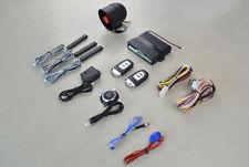 Smart Keyless Entry PKE Car Alarm Engine Start Stop Push Button Shock Sensor Sys
