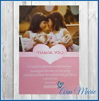 10 x PERSONALISED BIRTHDAY THANK YOU FOR MY GIFTS PRESENTS BIRTHDAY THANKS CARDS