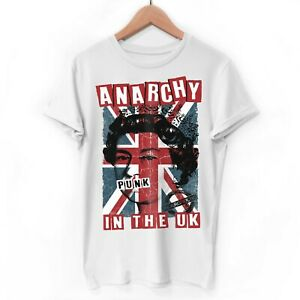 Mens 70s Punk Rock T Shirt Anarchy in the UK Sex Pistols Music Gift Idea for Him