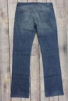 Earnest Sewn Jean Blue Cotton Mid Rise Boot Leg Keaton Size 30 X 35 Long EUC