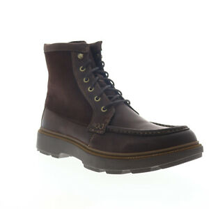 Clarks Dempsey Peak 26147286 Mens Brown Leather Lace Up Casual Dress Boots