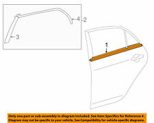 TOYOTA OEM 09-13 Corolla Rear-Window Sweep Belt Felt Molding Right 7573002190