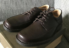 Clarks Mens Brown Leather Salute East Shoes Size 8-Brand New
