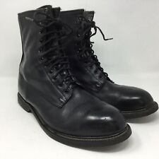 Vintage Wolverine Military Combat Black Leather Steel Toe Work Boots Mens 12 W
