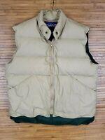 Gant Beige Full Zip Down Puffer Vest Mens Size Small S